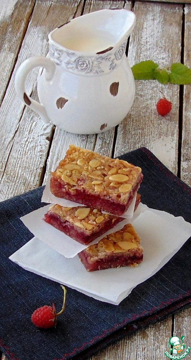 Овсяное печенье с малиной и миндалем ингредиенты