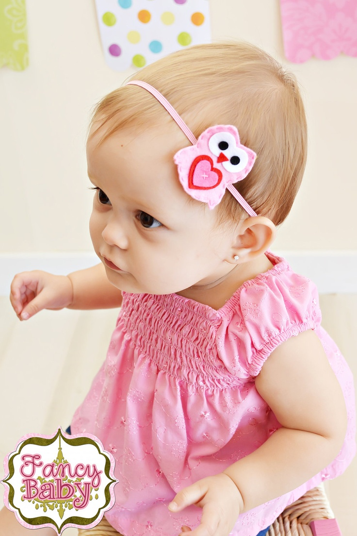 Pink Owl Baby Girl Headband. Making this for heidi's 2nd Birthday party!!! Owl Themed