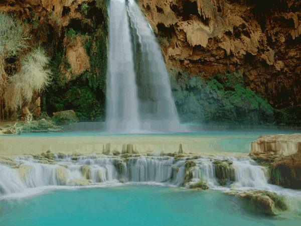 GIFS DE NATURALEZA: Paisajes de cascadas