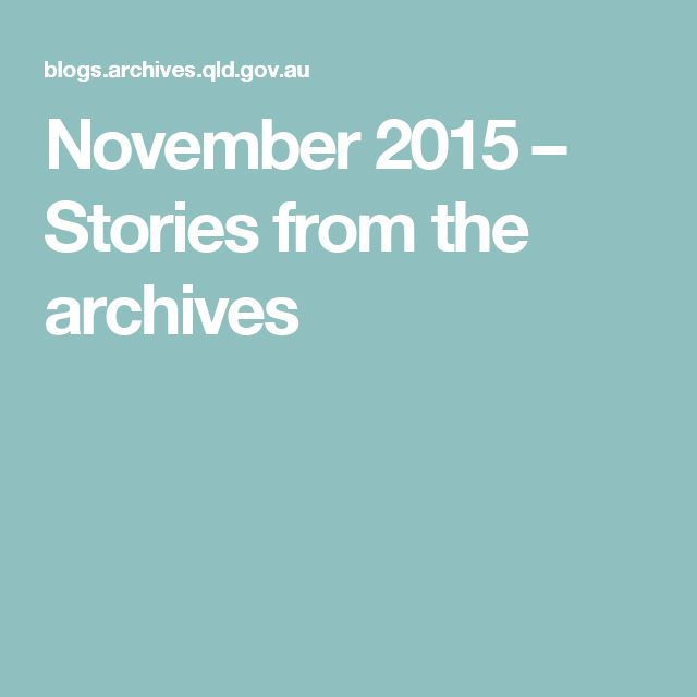 November 2015 – Stories from the archives