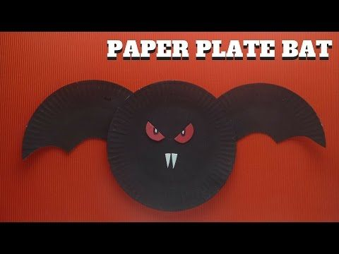 Halloween Craft - Paper Plate Bat - YouTube & 75 best Easy Kids Craft images on Pinterest | Easy kids crafts ...