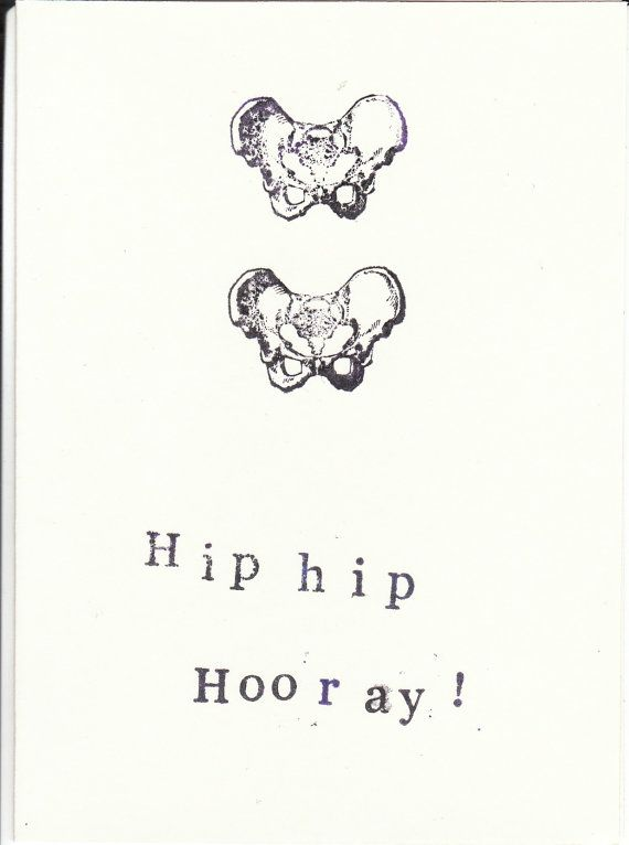 Skeleton Anatomy Greeting Card Hip Hip Hooray | RebelsMarket, $3.00 Keep the celebration and congratulations anatomically-correct!