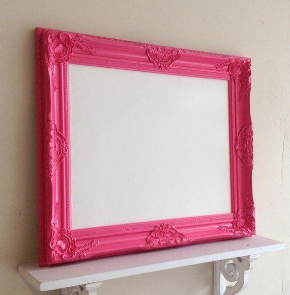 White Board Magnetic Whiteboard Pink White Girls Room