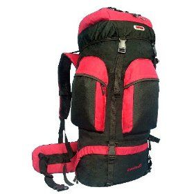 CUSCUS Internal Frame Hiking Travel Backpack 88L 6200ci Camping Journey Red $35.95