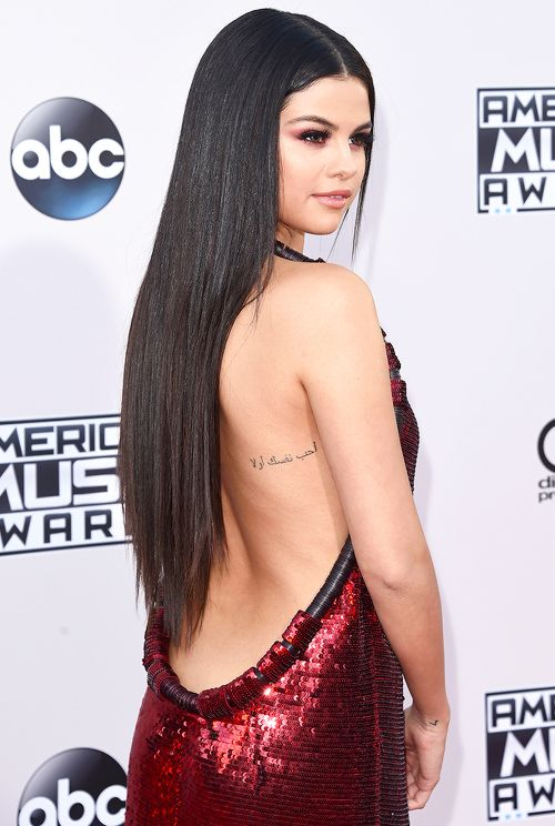 Selena Gomez attends the 2015 American Music Awards, November 22nd 2015