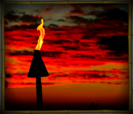 Elegant Gas Torch To Boost The Perfect View Of The Sunset.