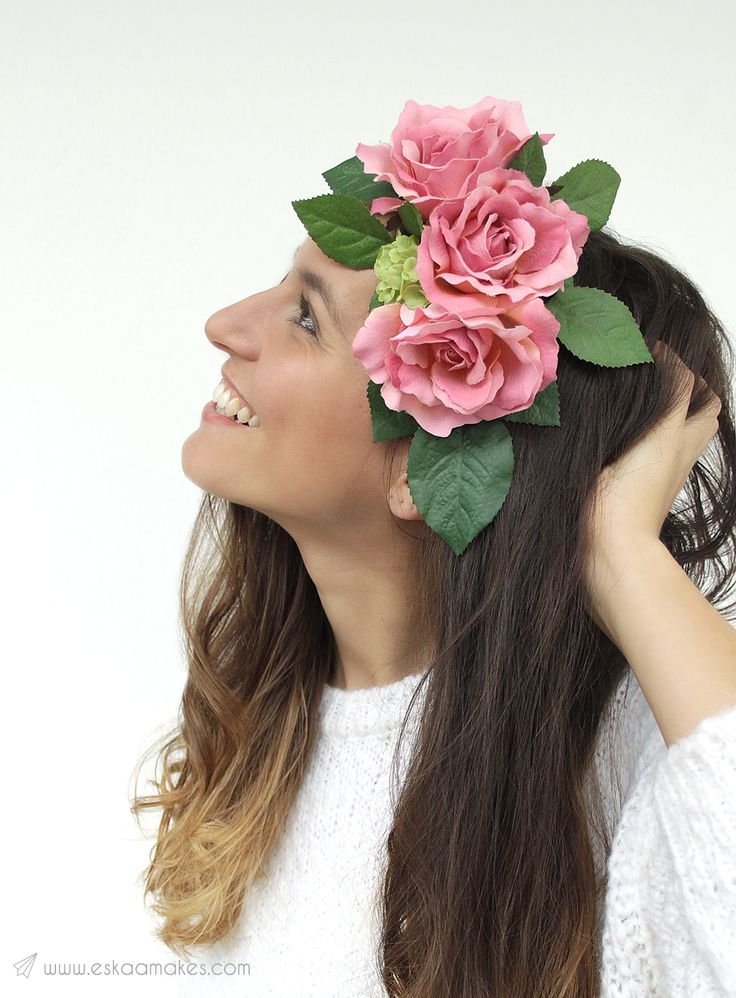 How to make - faux floral headpiece.   For all the flower girls and summer lovers. Make your own floral headpiece and be the queen of every summer party. Tutorial illustrated with love on » [es.kaa.] makes