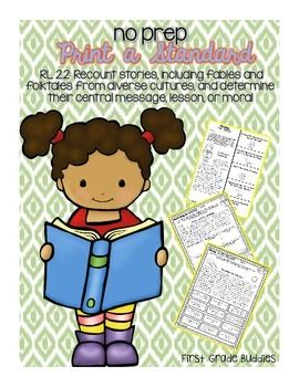 ***After success with our 1st Grade Print a Standard packs, we are now adding 2nd Grade Print a Standard packs to our shop!!*** This no prep ELA Print a Standard packet for RL 2.2 was designed to give your students a chance to work on reading stories, fables, and folktales and determine their central message, lesson, or moral.