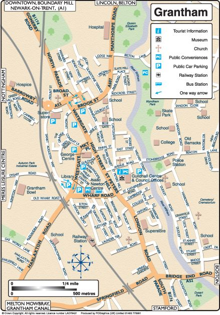 grantham-town-map
