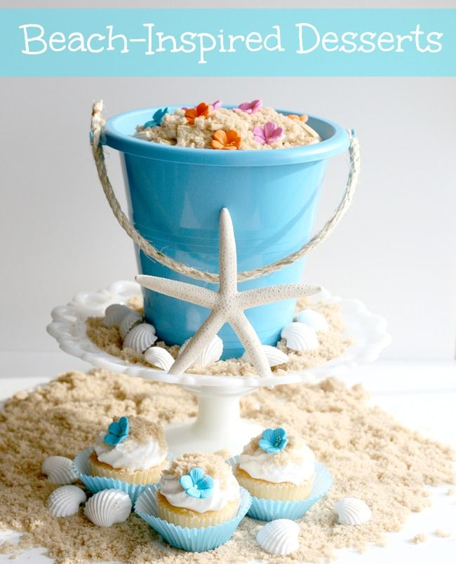 Beach Inspired Desserts ~ Fun in the Sun - Cupcakes & Crinoline