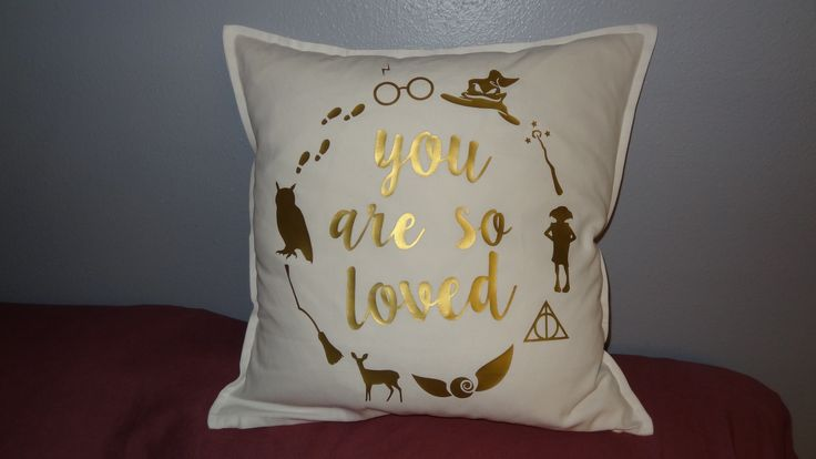 Harry Potter Inspired Throw Pillow Cover // You Are So Loved // Harry Potter Themed Nursery // Wedding - Housewarming - Baby Shower Gift