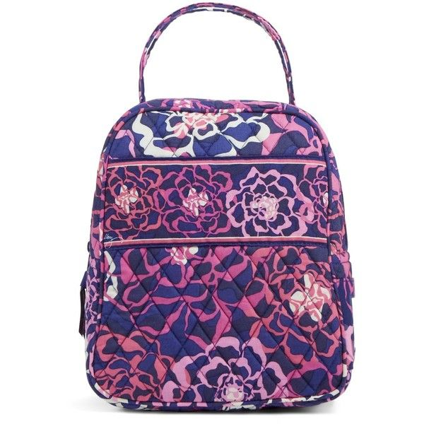 Vera Bradley Lunch Bunch Bag in Katalina Pink ($34) ❤ liked on Polyvore featuring home, kitchen & dining, food storage containers, bags, lunch box, purses, accessories, katalina pink, lunch bags and lunch sack