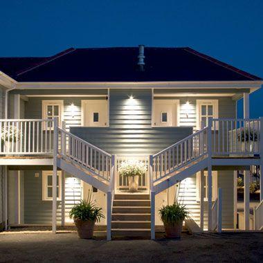 Driftwood Hotel, South Cornwall, England.  Visit: http://bit.ly/1R3X10a #summer #england #summerfun #cornwall #driftwood #hotel #charming #small #hotels #night #lights #seasidehotel #seaside #sea