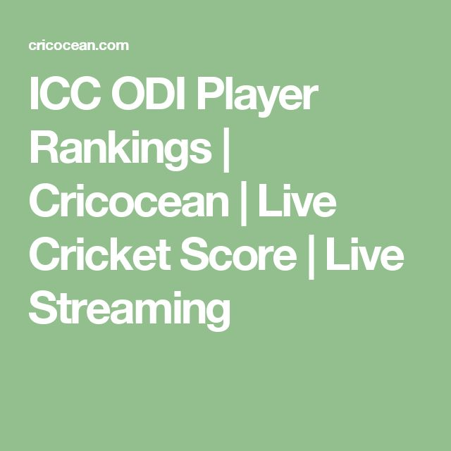 ICC ODI Player Rankings | Cricocean | Live Cricket Score | Live Streaming