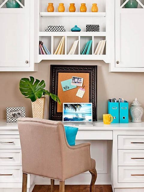 Built in study desk house pinterest for Built in study table