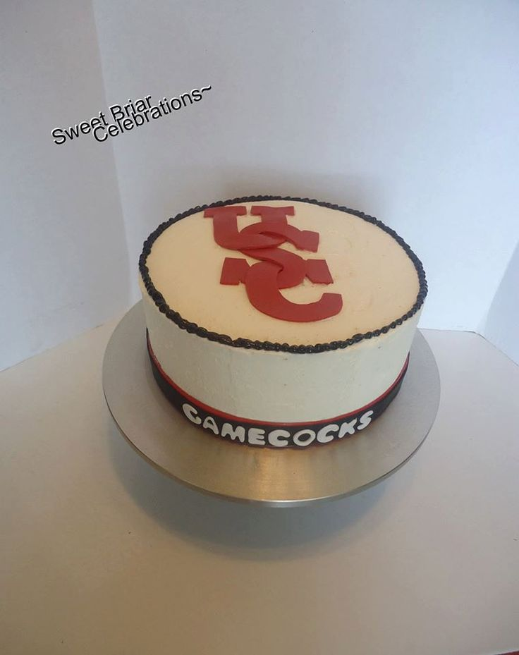 Usc Birthday Cake Images : USC Gamecocks Inspired Cake Topper - Fondant by ...