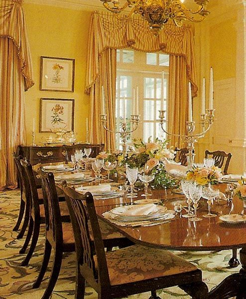 1000 images about drapes curtains swags pelmets - Yellow dining room curtains ...