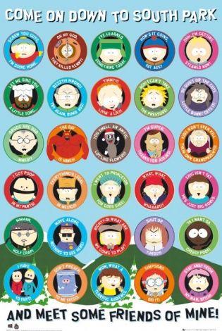 South Park Quotes - plakat - 61x91,5 cm  Gdzie kupić? www.eplakaty.pl