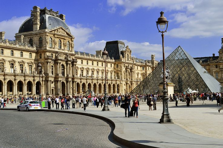 The iconic Louvre museum in #Paris http://www.nyhabitat.com/blog/2014/06/30/paris-basic-tips-etiquette-visitors/