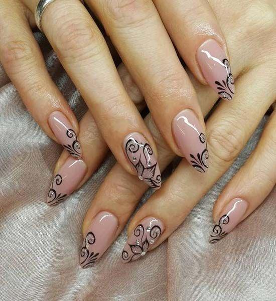 Schöne, aber einfache Nail Art #Acryl #NailRoze #NailVorm #NailShapes #NailStick … – Nagel Kunst