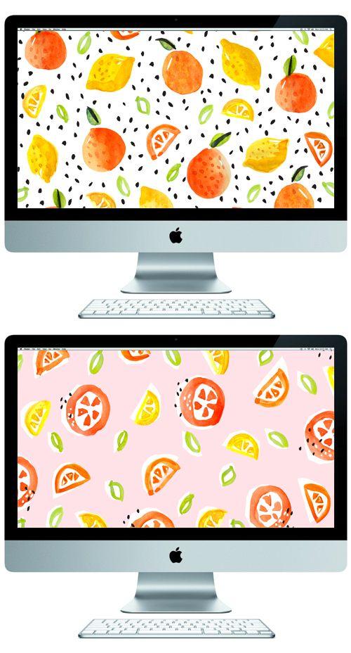 oranges & lemons desktop wallpaper // The Lovely Drawer