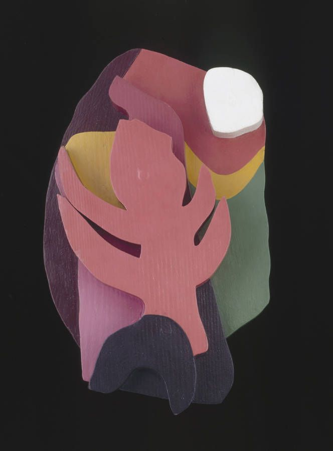 "theartofsculpture:  Jean Arp German-French, b. 1888-1966 Forest, 1916-17. Painted wood, 12 5/8"" x 8 ¼"" (32 x 21 cm)"