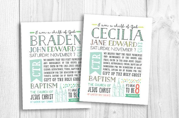LDS Baptism subway art baptism gift by PicadillyLime on Etsy