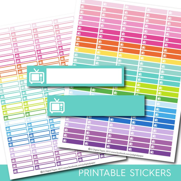 TV stickers, tv planner stickers, tv printable stickers, Movie stickers, Film stickers, Tv show stickers, Television stickers, STI-144
