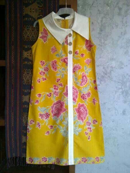 retro batik dress....