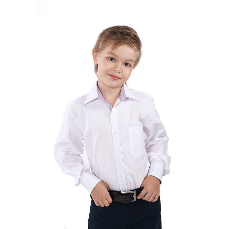 Комплект для мальчика (белая рубашка, галстук-бабочка, бежевые брюки и кофта)
