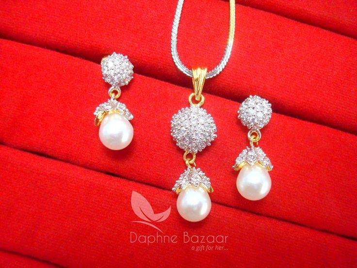 AD97 Daphne Designer Zircon Pendant Earrings