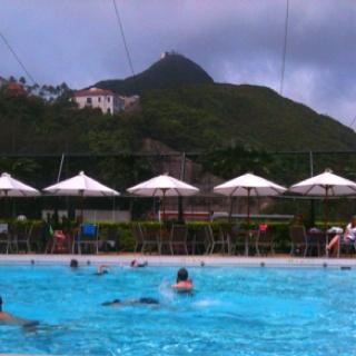Poolside at the Hong Kong Cricket Club