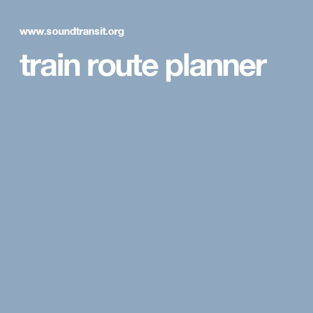 train route planner