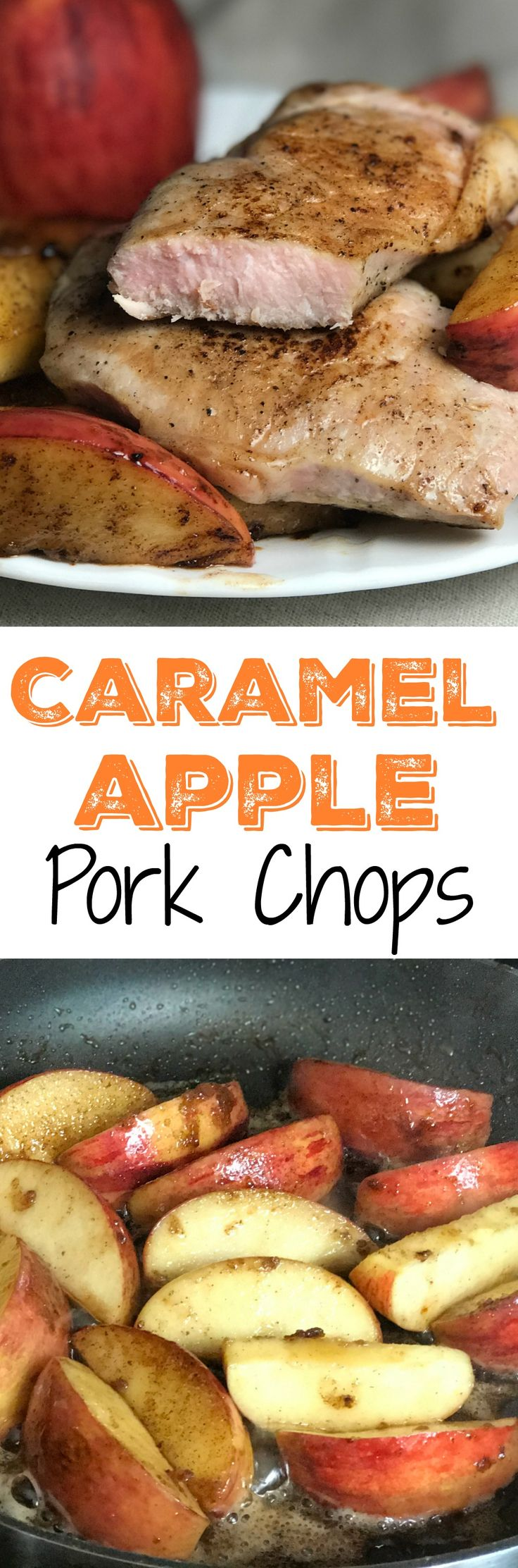 This easy pork chop and apple recipe has the perfect flavor combination.  The chops only take 10 minutes to cook and you have a great meal to enjoy.