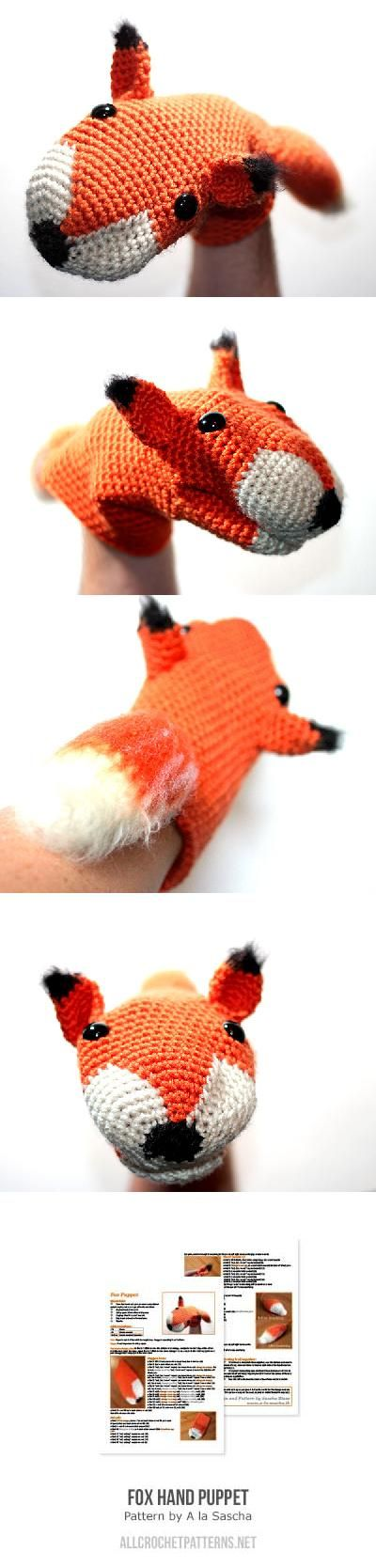 Fox Hand Puppet Crochet Pattern                                                                                                                                                      More