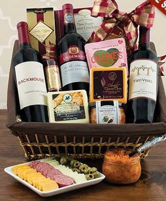 Cabernet and Cheese Picnic Gift Basket  @GiftProse