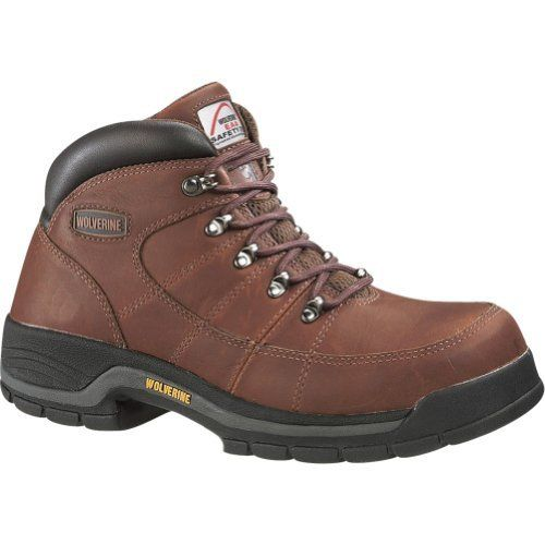 "Wolverine Ladies Safety Toe Work Boots 4671 6"" Brown Wolverine. $104.06"