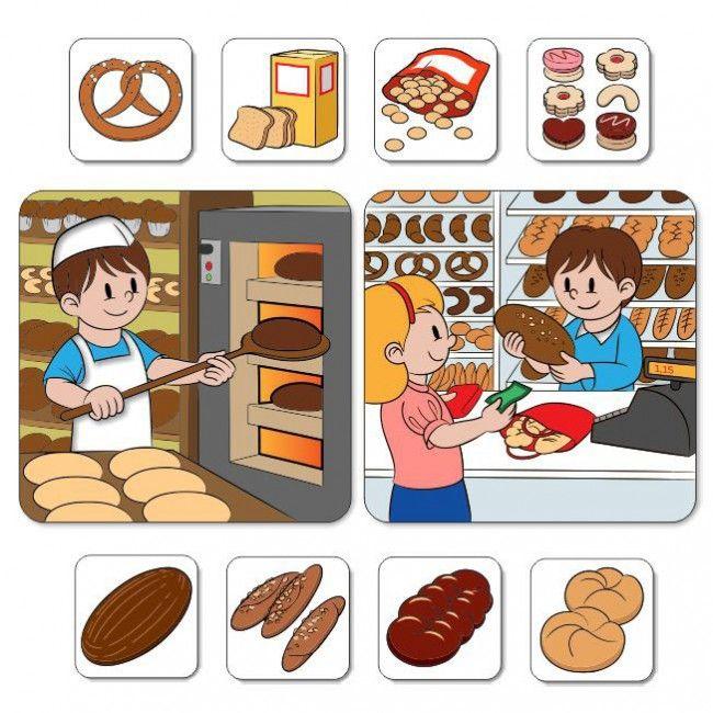 Výroba chleba - Motivačné obrázky, rozvoj reči - Slovenský jazyk - Učebné pomôcky