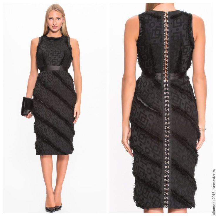 Купить Жаккард шерсть, ткань Италия - черный, альта мода, от кутюр, жаккард, Жаккардовый узор