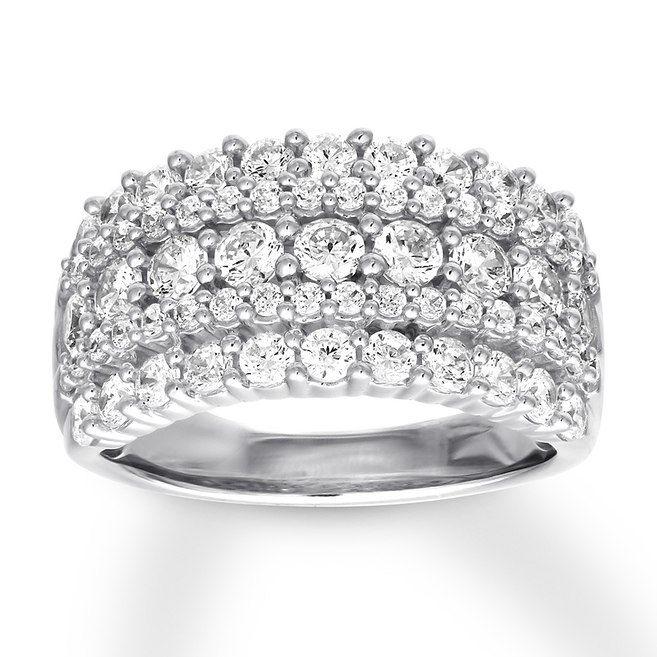 White Diamond 10k Yellow Gold Ring 50ctw Rgd204 White Diamond Rings Gold Rings Diamond