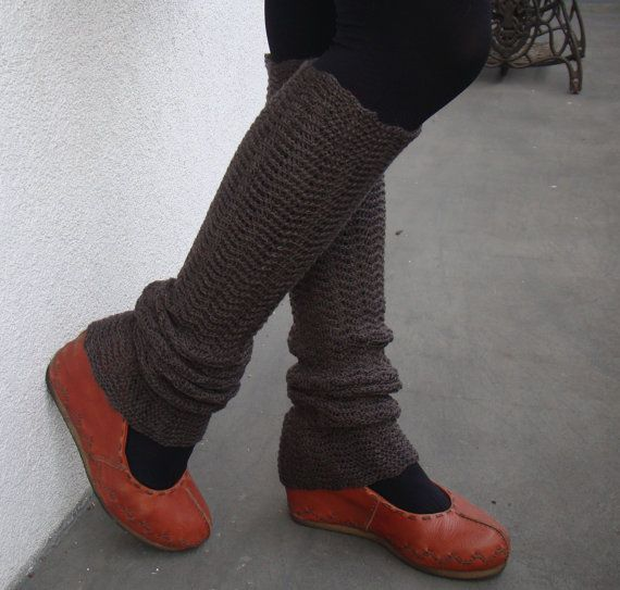 Brown Leg Warmers. $31.00, via Etsy.
