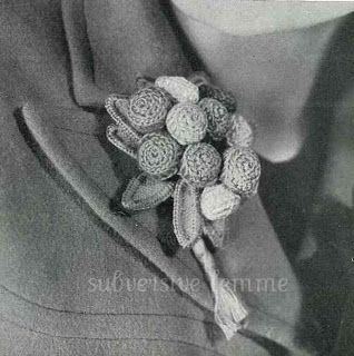 1930's Crochet pattern for a Flower Posy