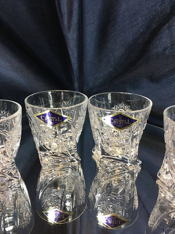 WHISKEY VODKA COGNAC SET 6 Shot Glasses and DECANTER Clear Aurum-Crystal Czech Republic Decanter-15 oz / 450 ml Tumblers-2 oz / 50ml It is BRAND NEW set, Aurum - Crystal s.r.o. is a leading manufacturer in the Czech glass industry. The company produces Bohemian crystal which is