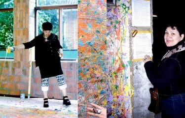 """Lavander tralf mist"" dedicated to Jackson Pollock by Strontium-90 art group"