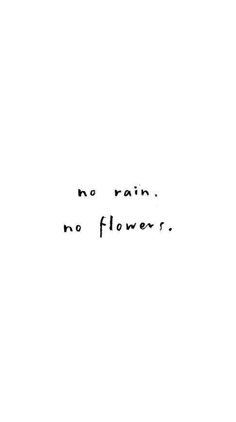 No Rain No Flowers Quote