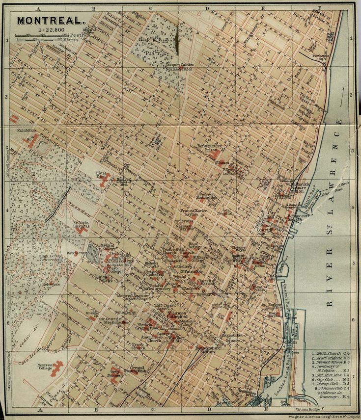 Canadian Map Before Confederation%0A Map of Montreal