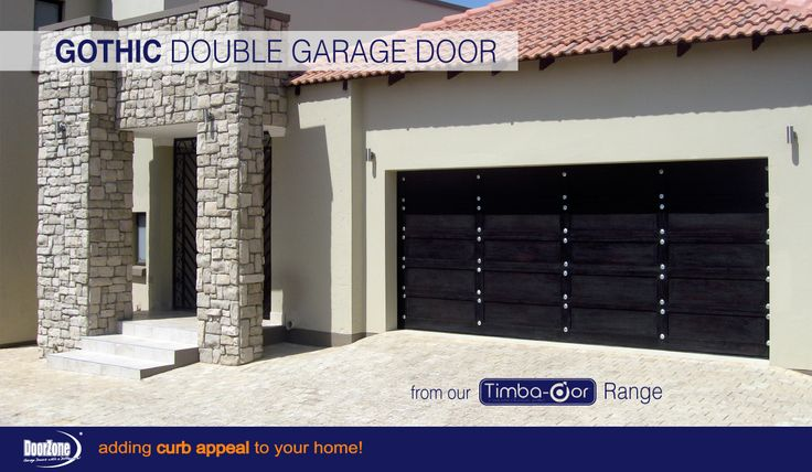 This Gothic Double sectional garage door from our Timba-dor™ Range is a simple design which adds drama to your homes curb appeal. And for that extra convenience and safety why not add a d-force™ Automatic Overhead Garage Door Opener.  www.doorzonesa.com