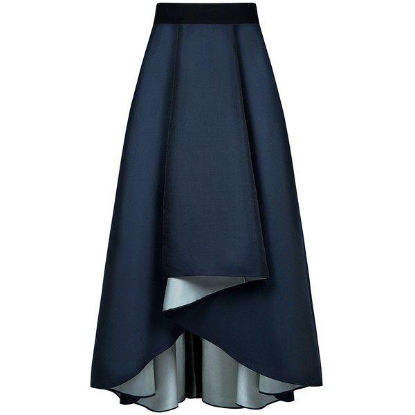 Sachin & Babi - Philip Maxi Full Skirt ($487) ❤ liked on Polyvore featuring skirts, bottoms, saias, blue skirt, long evening skirts, hi low maxi skirt, long maxi skirts and hi lo maxi skirt