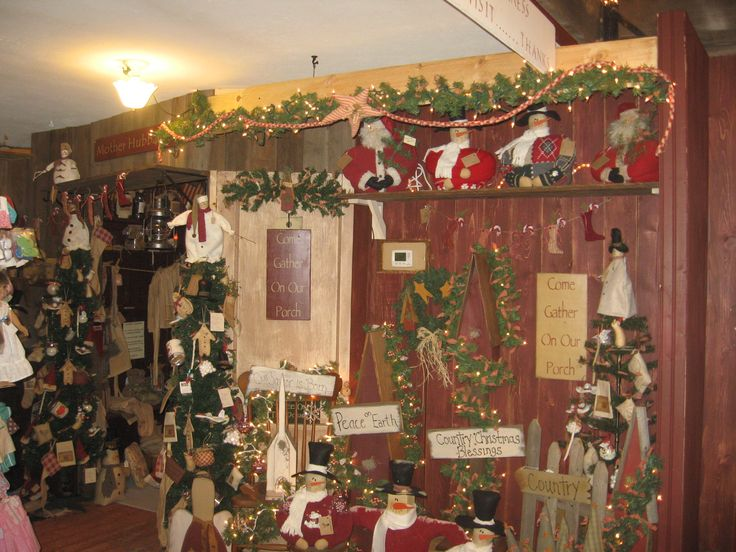 Good Christmas Craft Booth Ideas Part - 7: Primitive Christmas, Primitive Crafts, Country Primitive, Craft Booth  Displays, Craft Booths, Booth Ideas, Craft Stores, Store Fronts, Christmas  Decorations