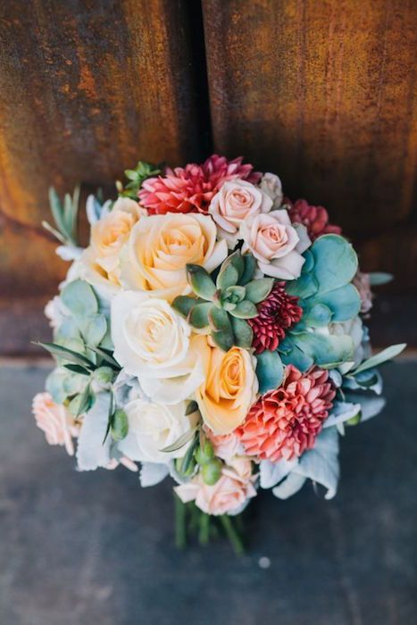 A bouquet of desert blooms and succulents. heart.love.always #bouquets #succulents